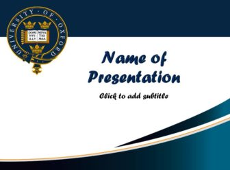 The University of Oxford Free PowerPoint Template