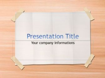 Paper Sheet Free PowerPoint Template