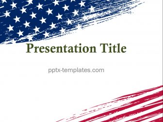 USA Patriotic Free PowerPoint Template
