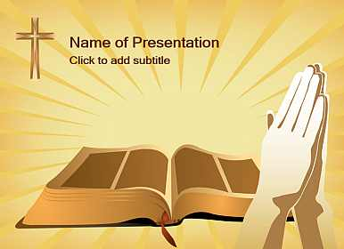 Bible and cross Free PowerPoint Template