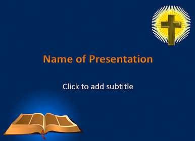 Bible And Cross Template For Presentations Of Powerpoint