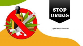 Stop Drugs Free PowerPoint Template