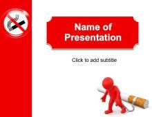 Stop Smoking Free PowerPoint Template