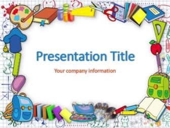 School stationery Free PowerPoint Template