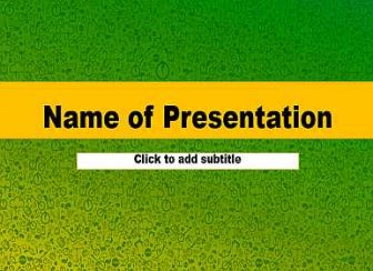 Green texture Free PowerPoint Template