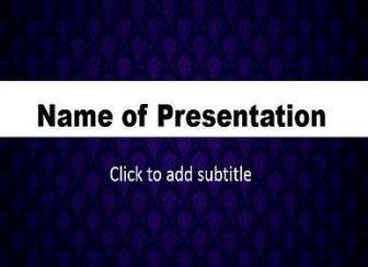 Dark blue background Free PowerPoint Template