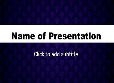 Dark blue background Free PowerPoint Template
