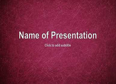 Scratches Free PowerPoint Template