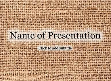Burlap Free PowerPoint Template