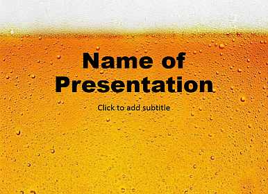 Beer Free PowerPoint Template