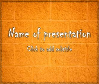 Cinder Block Free PowerPoint Template