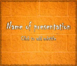 Cinder Block Free PowerPoint Template