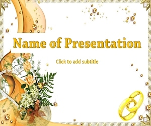 The wedding bunch animated wedding template for presentation the wedding bunch animated free powerpoint template toneelgroepblik Choice Image