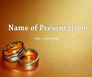 The Wedding Rings Free PowerPoint Template