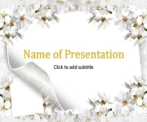 Flowers and wedding Free PowerPoint Template