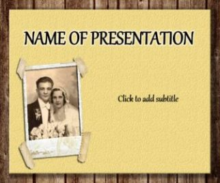 Wedding album Free PowerPoint Template