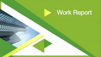 Work Report Free PowerPoint Template